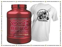 SCITEC 100% Beef Concentrate 2000 g + T-SHIRT