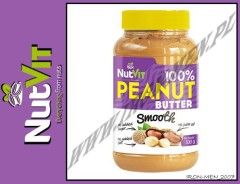 NUTVIT 100% PEANUT BUTTER SMOOTH 500g