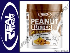 REAL PHARM PEANUT BUTTER WPC 1000g
