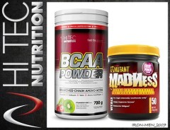 HI-TEC BCAA POWDER 700g+MADNESS 275g