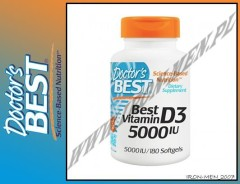 DOCTOR'S BEST BEST VITAMIN D3  5000 IU 180 kap