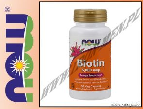 NOW FOODS BIOTIN 5,000mcg 120vegkaps
