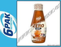 6PAK NUTRITION SYRUP ZERO BAKED APPLE - 400ml