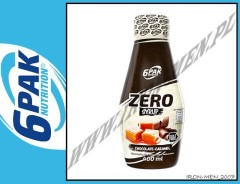 6PAK NUTRITION SYRUP ZERO CARMEL CHOCOLATE 400ml